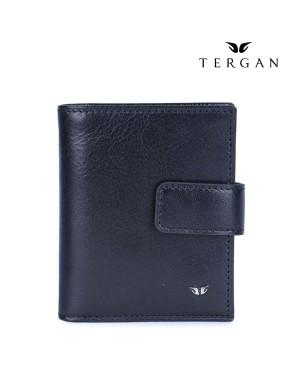 TERGAN Leather Black Wallet