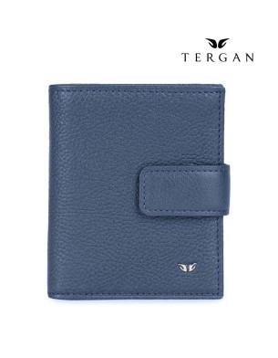 TERGAN Leather Navy Blue Wallet