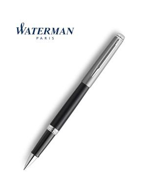 Waterman Rollerball Pen Hemisphere Essential Metallic Black CT
