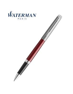 Waterman Rollerball Pen Hemisphere Essential Metallic Red CT