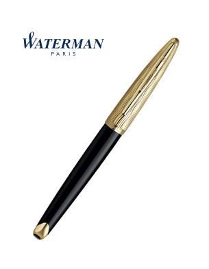 Waterman Carene Essential Black Wave Gold Trim Rollerball