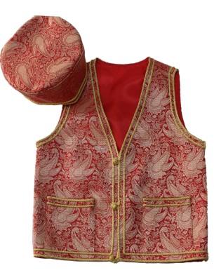 Kids Vest + Head Wear (Red)